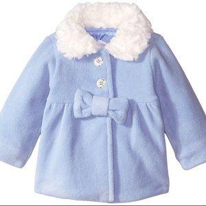 Pumpkin Patch Baby Girl Bow Microfleece Jacket NWT
